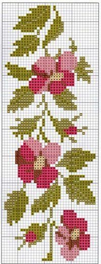 This Pin was discovered by HUZ Cross Stitch Bookmarks, Cross Stitch Borders, Cross Stitch Rose, Cross Stitch Flowers, Cross Stitch Charts, Cross Stitch Designs, Cross Stitching, Cross Stitch Embroidery, Embroidery Patterns