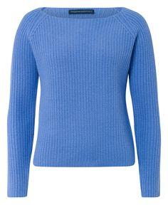 Premium Essentials Kaschmir-Pullover in Azurblau