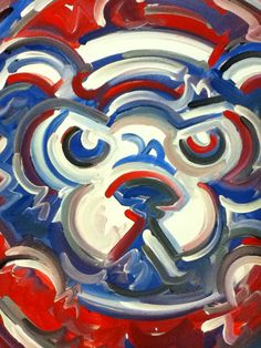 Chicago Cubs Painting by Justin Patten Sports Art Baseball