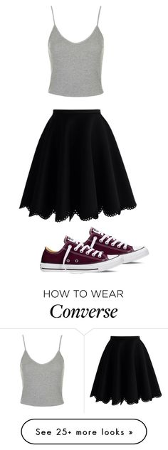 """""""Untitled #60"""" by mabro on Polyvore featuring Topshop, Chicwish and Converse"""