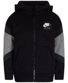 d1e52f58122 Nike Little Boys Air Full-Zip Hoodie - Gray 7 Toddler Boy Outfits
