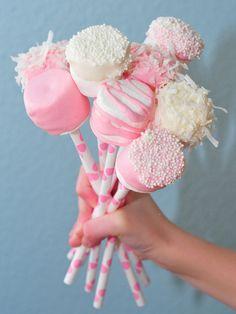 DIY Valentine- Yummy marshmallow bouquet.