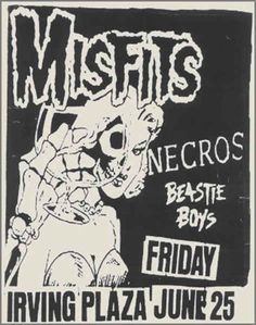 The Misfits, Necros and The Beastie Boys   35 Old Punk Flyers That Prove Punk Used To Be So Cool
