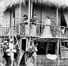 Where softly sighs of love the light guitar - a Visayan-Filipino serenade, Philippines, c1905
