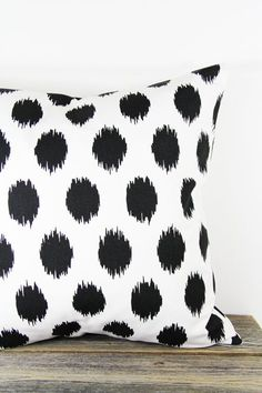 18x18 Pillow Cover Black Spots Premier Prints Jo by EllieLaneShop