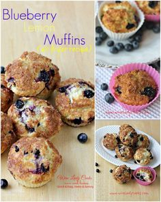 Blueberry Lemon Muffins Air Fryer Recipe, easy to make for breakfast or anytime snacks. Click thru for easy recipe.