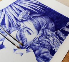 Eye-catching Surreal Ball Point Pen Drawings by Nuria Riaza. |FunPalStudio|Illustrations, Entertainment, beautiful, Art, Artwork, Artist, paintings, drawings, nature, World, Creativity, Instagram, ball Pen Drawings ball pen.