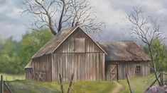 Jake's Barn Painting by Terry Boulerice