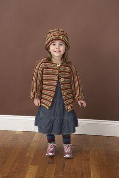 Bubblegum Baby Set (Knit) - Patterns - Lion Brand Yarn