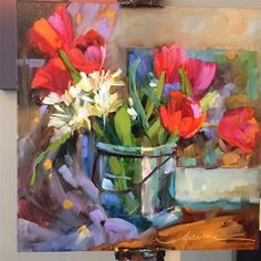 """Daily Paintworks - """"Nestled in Love and Traveling with Paints"""" - Original Fine Art for Sale - © Dreama Tolle Perry Paintings I Love, Colorful Paintings, Love Painting, Beautiful Paintings, Oil Paintings, Original Art, Original Paintings, Art Aquarelle, Acrylic Artwork"""