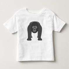 Cartoon Gorilla Toddler T-shirt - Gorilla symbolism stands for loyalty leadership compassion dignity and accountability. Cartoon T Shirts, Cute Cartoon, Cartoon Zoo Animals, Gorilla Funny, Baby Monkey Pet, Silverback Gorilla, Consumer Products, Basic Colors, Cotton Tee