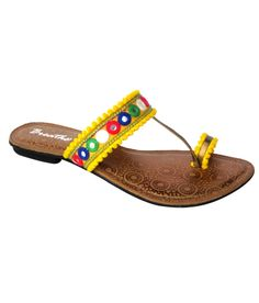 Breathe Yellow Ethnic Flats, http://www.snapdeal.com/product/lekhize-yellow-ethnic-flats/1134624717