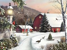 Enjoy the beauty of Christmas scene through painting of the pictures of decorated Christmas tree, Santa Claus with reindeer, Victorian village, nativity scene and much more. Description from christmas-computer-wallpapers.blogspot.com. I searched for this on bing.com/images