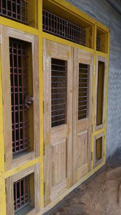Front Gate Design, Main Door Design, Wooden Door Design, Wooden Doors, Window Glass Design, 30x40 House Plans, Bedroom Door Design, Window Shutters, House Elevation