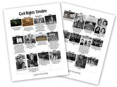 Get our free printable American civil rights movement timeline and check out our meaningful activities and favorite book picks for learning about this important era.
