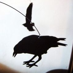 Nevermore The Raven mobile by SaltyandSweet on Etsy