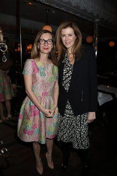 todas las imagenes de la cena de vogue y vanity fair durante paris fashion week marzo 2013. Anne Boulay, directora de Vanity Fair Francia y Virginie Mouzat, directora de moda de Vanity Fair Francia.