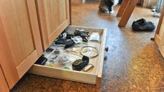 Replace Your Cabinet Kickplate with Tiny Drawers to Increase Storage Space @JoeTHH www.tinyhousehacks.com facebook.com/tinyhousehacks
