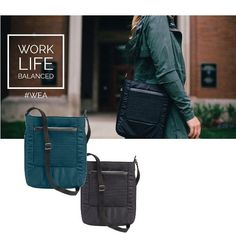 """Tablet computers are perfect for travel—and the Lewis N. Clark WEA RFID Tablet Crossbody was made to make traveling with your tablet totally effortless. There's a security pocket for your passport, a sleeve for your tech and an expansion panel that adds 2"""" to the main cargo area.  The #WEA collection is all about simplifying your life. Check it out!"""
