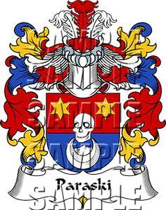 Paraski Family Crest apparel, Paraski Coat of Arms gifts