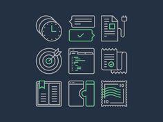 Support Icon Set | Pictogram Design