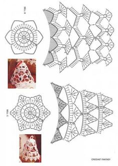 Best 10 Tried the middle one with standard-sized crochet thread. Turned out horribly, and was extremely large and crowded. I think the – Page 343258802834501832 – SkillOfKing. Crochet Christmas Decorations, Crochet Decoration, Crochet Ornaments, Crochet Snowflakes, Christmas Crafts, Crochet Diagram, Crochet Chart, Thread Crochet, Holiday Crochet Patterns