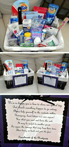 Basket for Bathroom for Wedding.