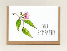 WITH SYMPATHY . sorry for your loss . thinking of you . Sorry For Your Loss, Epson Ink, Paper Packaging, Bereavement, Paper Envelopes, Sympathy Cards, Say Hi, Your Cards, Thinking Of You