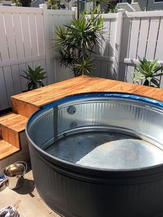 DIY stock tank pool Small Backyard Pools, Small Pools, Backyard Patio, Pool Decks, Stock Pools, Stock Tank Pool, Above Ground Pool, In Ground Pools, Do It Yourself Pool