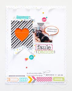 Janna Werner Scrapbooking Layout 8.5 x 11 inch mit Project Life von Stampin Up Project Life auf Scrapbooking Layout