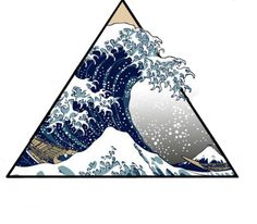 """My new tattoo design of """"The Great Wale Off Kanagawa""""  I'm going to do it on mi arm next week!"""