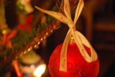 Christmas glass bauble.