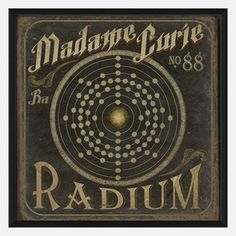 Madame Curie No88 Radium 25x25 now featured on Fab.