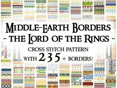 Cross Stitch Pattern: Middle-Earth Borders – The Lord Of The Rings