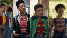 Our Sex Education fashion guide has full details on Maeve, Aimee, Lily, and Ola's styles, plus outfits to help you dress like them right now. Rose Clothing, Rainbow Outfit, Queer Fashion, Popular Girl, Badass Women, College Fashion, Teenager Outfits, New Girl, Style Guides