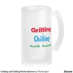 Grilling and Chilling North Andover Frosted Glass Beer Mug