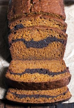 Pumpkin Brownie Loaf