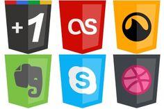 Modern Web Icons - Artwork by SimekOneLove Social Network Icons, Website Icons, Social Web, Icon Design, Vectors, Vector Free, Modern, Artwork, Photos