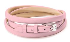 Joy de la Luz | Leather buckle bracelet rose