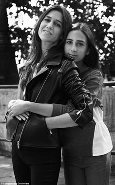 Fashion flock: The young model's mother Charlotte (left) is an accomplished recording arti...