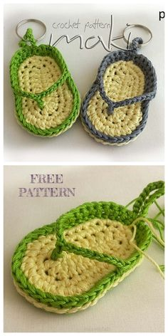 Free Easy Crochet Patterns For Crochet Lovers - Diy And Crafts Kids Crochet Hats Free Pattern, Crochet Keychain Pattern, Crochet Kids Hats, Easy Crochet Patterns, Crochet Crafts, Crochet Projects, Free Crochet, Crochet Flip Flops, Crochet Classes