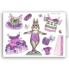 Ballet Bunny with Purple Outfits.