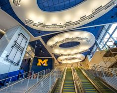 The newly renovated interior of the Crisler Center, where the Michigan Basketball games are played. We think it looks a-MAIZE-ing!