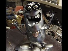 WELDED SCRAP METAL MINION TIMELAPSE BUILD