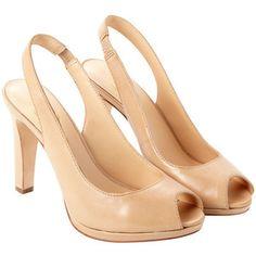 Ash Evita Slingback Heels - Sand