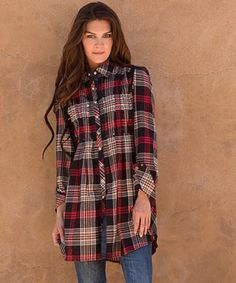 Double D Ranchwear Presidio Plaid Tunic.
