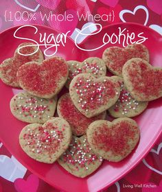 100% Whole Wheat Sugar Cookies from Living Well Kitchen