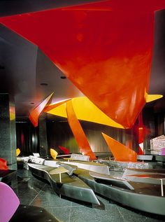 Imagine These: Restaurant Interior Design | Moonsoon Restaurant | Sapporo | Japan | Zaha Hadid