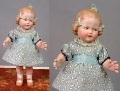 """Идеальный и редкий компании gebruder Хойбахе """"кокетка"""" характер ребенка 9"""" все-суп антикварной куклы"""
