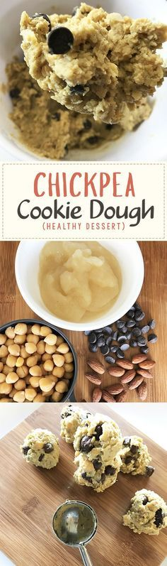Healthy chickpea cookie dough energy bites - gluten free, dairy free, vegan option, totally delicious healthy snack